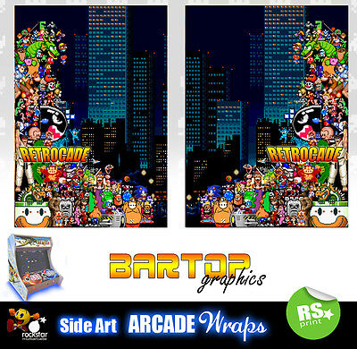 Retrocade Bartop Sides Overlay Graphic Stickers