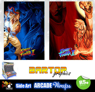 Street Fighter 2 sides Bartop Sides Overlay Graphic Stickers
