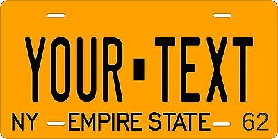 New York 1962 License Plate Personalized Custom Car Bike Motorcycle Moped Tag