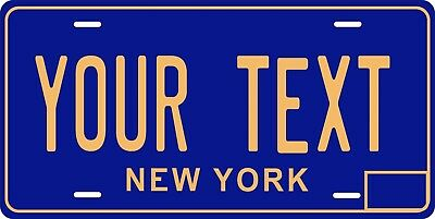 New York 1966 License Plate Personalized Custom Car Bike Motorcycle Moped Tag