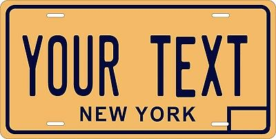 New York 1974 License Plate Personalized Custom Car Bike Motorcycle Moped Tag