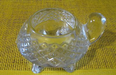 Avon clear class turtle votive candle holder