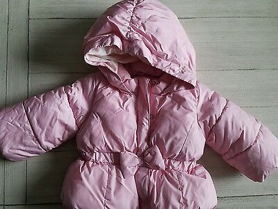 NWOT Baby Gap Girls Puffer Jacket Coat Pink 12 - 18 months