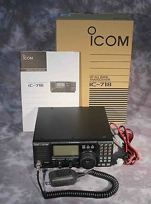 Icom Ic-718 Hf All Band Transceiver Excellent Condition  Working Properly