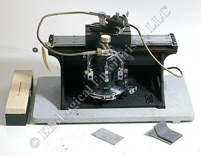 AO Spencer American Optical 860 Sliding Microtome Complete w/ Holder+Knife+Case