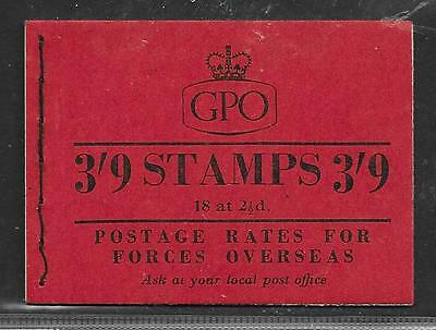 WILDING 3/9d BOOKLET G18 FEBRUARY 1957 COMPLETE  FINE UM