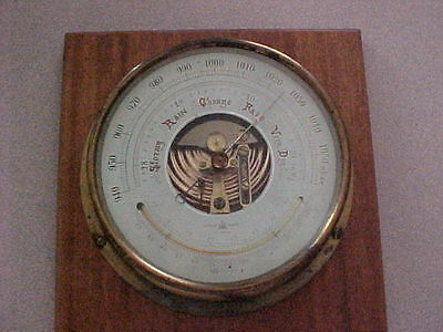 Nigata  Aneroid Barometer Nautical Ships - Inch & Millibar Scale - Thermometer