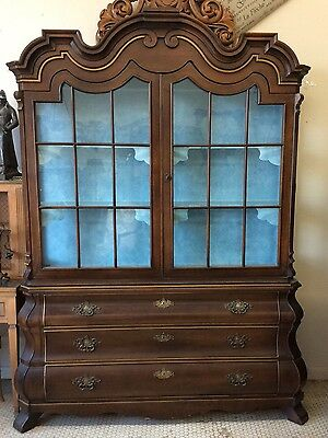 Vtg Hollywood Regency  Dorothy Draper China cabinet by Henredon