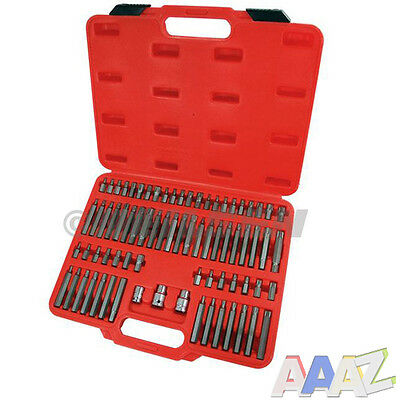 "75pc Hex, Ribe, Spline, Star Bit Socket Set 1/2"" and 3/8"" With Carry Case"
