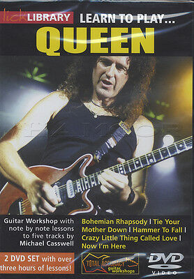 Learn to Play Queen Lick Library Guitar 2 DVD Set Brian May Tuition Bohemian