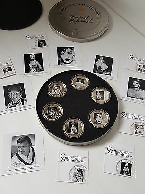 2010-2011 Hollywood Legends - Bernard Of Hollywood $5 Silver 6-Coin Set