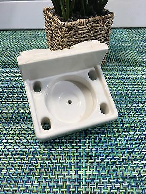 1924 RECLAIMED Porcelain Bathroom Cup & Toothbrush Holder ~ WILLETTE CORP