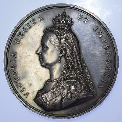 Queen Victoria - 1887 Golden Jubilee official silver medal by Boehm and Leighton
