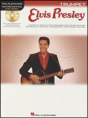 Elvis Presley Instrumental Play-Along for Trumpet Sheet Music Book with CD