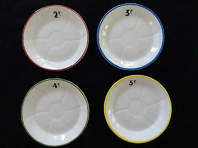 "Set Four French Bistro Plates 4.5"" Absinthe Tip LAMALLE NY France Eiffel Tower"