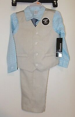 Boys Size 3-6 Months George Brand 4-Piece Dress Suit Outfit NWT