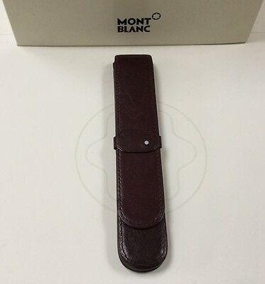 Montblanc Burgundy Leather Pen Pouch For One Pen
