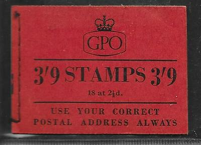 WILDING 3/9d BOOKLET G5 FEBRUARY 1955 COMPLETE  FINE UM