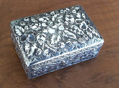 Beautiful Antique Sterling Silver Possibly Jewelry Ring Box A.Jacobi
