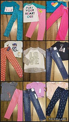 Girls Clothes Sz 5/6 Back To School Outfits Jeans Lot Of 15 Pc New