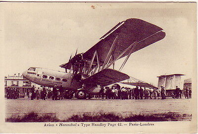 CPA PC AVION PLANE HANNIBAL Type HANDLEYS Page 42 IMPERIAL AIRWAYS LONDON PARIS