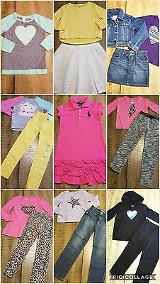 Girls Clothes Sz 5/6 Back To School Outfits Jeans Lot Of 17 Pc New