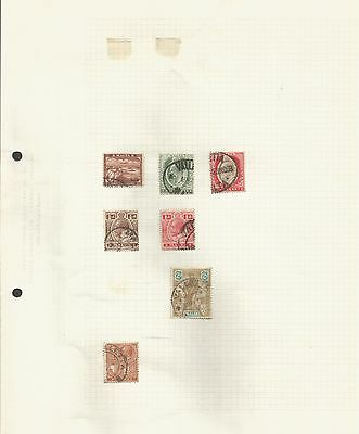 8 Album Pages Of Early Commonwealth Stamps Some Mint Lghtly Hinged.