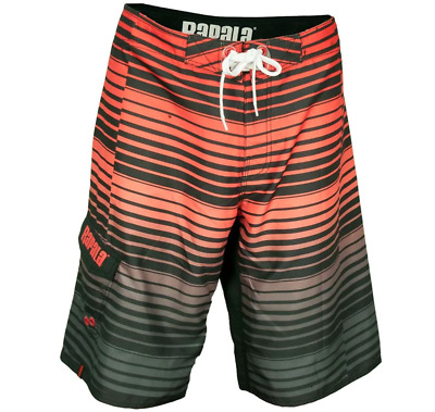Rapala Repeat Stripe Board Short - Red
