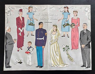 1943, A WEDDING ON CHERRY ROAD, Cherry Road Series Paper Doll, Jack & Jill Mag