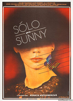 SOLO SUNNY Original Vintage Movie Poster 80s Artwork Large A1 Size Illustrated