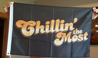Kid Rock Chillin the Most flag rock&roll banner man cave flag Huge 2x3ft RV Boat