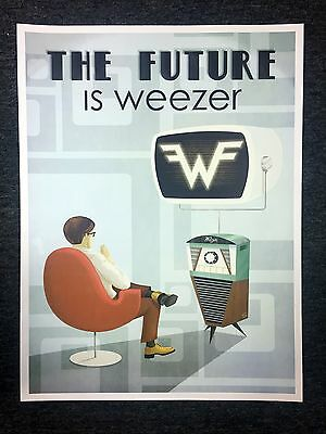 """Weezer """"The Future Is Weezer"""" Lithograph Poster RARE!"""