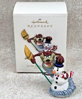 Hallmark Taz the Snowman Wizard Keepsake Ornament w/Box Looney Tunes 2006