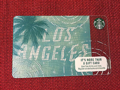 New Starbucks Los Angeles 2017 City Gift Card **in Hand Ships Same Day**
