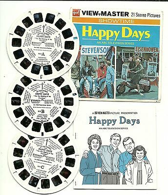 Viewmaster B 586 Happy Days Ron Howard The Not-Making of a President G3-G4-G5