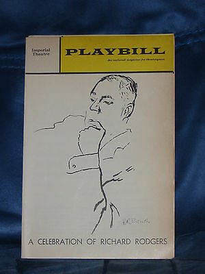 """Playbill For """"a Celebration Of Richard Rodgers"""" March 1972 Imperial Theatre"""