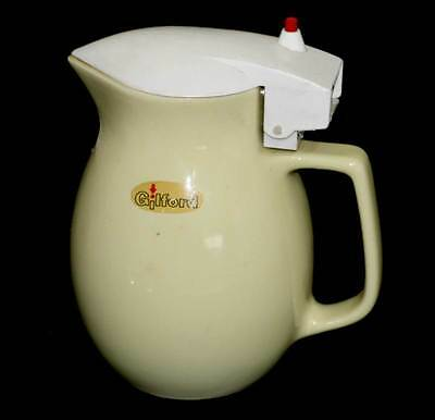 Vintage large yellow Fowler's Ware Gilford electric kettle jug 22cm