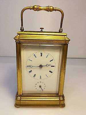 Gorge Case Moser A Paris Four Glass Bell Strike Repeat Alarm Carriage Clock