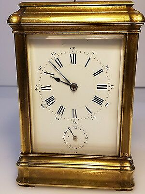 Gorge Case French Four Glass Strike Repeat Alarm Carriage Clock