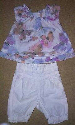 NEXT baby girl t-shirt and shorts set 3-6 months