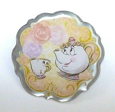 Japan Disney Beauty and the Beast Pins Collection - (G) Mrs Potts and Chip