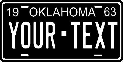 Oklahoma 1963 License Plate Personalized Custom Auto Bike Motorcycle Moped