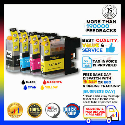 4x Ink Cartridge For LC-133 Brother DCPJ152W DCP J172W DCPJ552DW Printer LC131