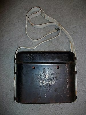Vintage Military Metal Container Case Box With Lid Ww2 Era