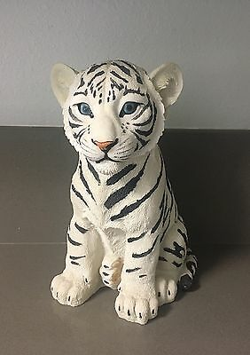 DWK WHITE TIGER Rumba Big Wild Cat Cub Figure Figurine Statute