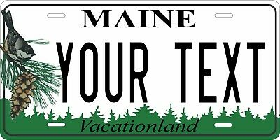 Maine 1999 License Plate Personalized Custom Auto Bike Motorcycle Moped Key Tag