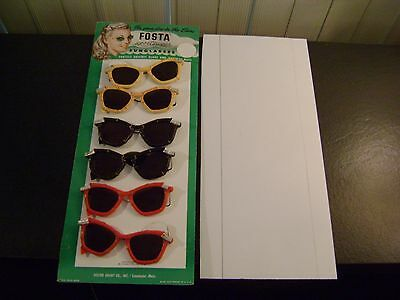 Vintage Foster Grant Cardboard Sunglass Counter Display with Sunglasses