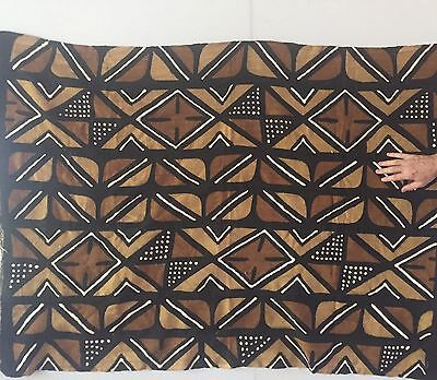 African HANDmade Mudcloth Fabric LARGE Mud Cloth Approx 4 Ft X 5 Ft Authentic