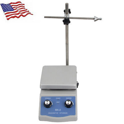 Hot Plate Heater Heating With Speed Control Magnetic Stirrer Mixer Lab Equipment