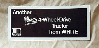 Vintage White Farm Equipment 4-150 Tractor Advertising Flyer - Ca 1970's!